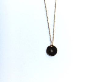 Round Pendant Charm Necklace    Handstamped Necklace    Bridesmaid Gift