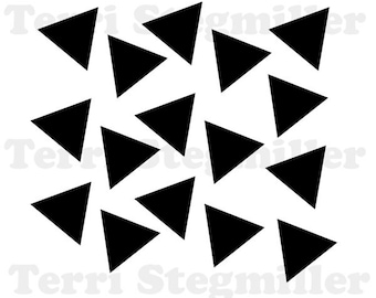 """Scattered Triangles 6x6"""" Stencil"""