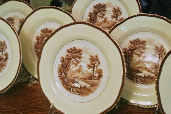 Antique Plates / Wood Sons / England /The Grenville
