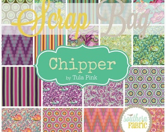 Chipper - Scrap Bag Quilt Fabric Strips by Tula Pink for Free Spirit