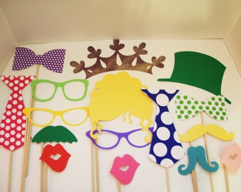 Photo booth Props - Wedding Photobooth Props - Photo Props - Birthday Photo Props
