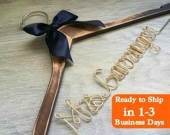 Bridesmaid Dress Hanger | Wedding Hanger | Bridal Hanger | Dress Hanger Wire | Personalized Custom Wedding Hanger | Personalized Hanger