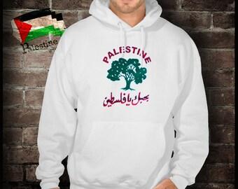 Palestine love with an olive tree sweatshirt