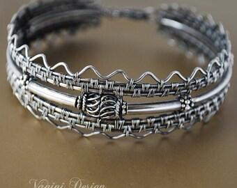 Crisium -Fine/Sterling and Bali silver bracelet