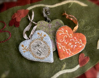 Tokens of Love - paper punch needle pattern - 3 in 1 - from Notforgotten Farm