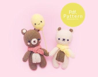 PDF. PATTERN - A Cozy Bear,  Amigurumi pattern, Crochet pattern, Dollhouse pattern.