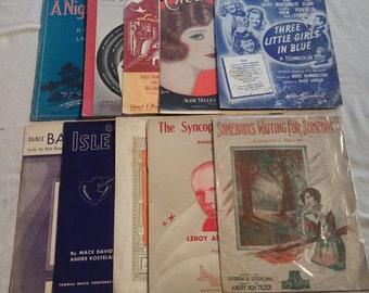 10 antique sheet music booklets 3