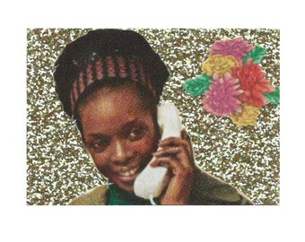 On The Phone Magnet
