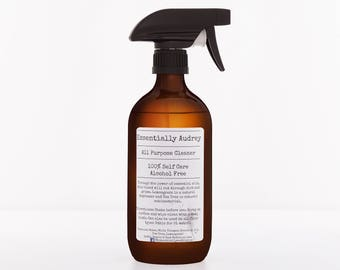 Natural All Purpose Cleaner in 500ml Glass Amber Bottle with Canyon Trigger Spray