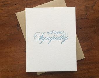 Drop Shadow: Sympathy, single letterpress card