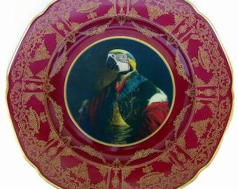 "Earl Psittacoidea Portrait Platte 11"""