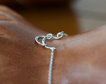Sterling Silver Personalized Bracelet (E0603)