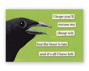 Cheap Wit Magnet - Bird - Humor - Gift - Stocking Stuffer - Mincing Mockingbird
