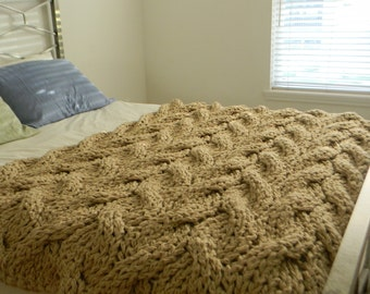 """The """"Lost in You"""" Chunky Knit Blanket"""