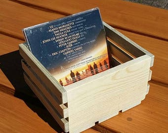Unfinished Small Wooden CD Crate