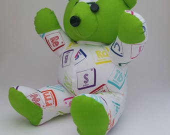 Chemistry Bear. Green.