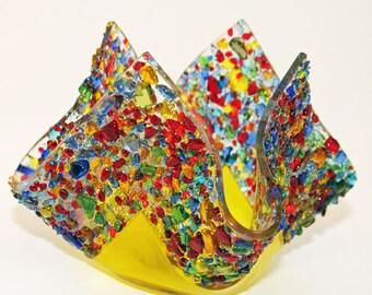 Glassworks Northwest - Votive Party - Fused Glass Candleholder