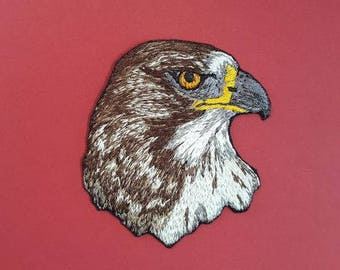 "Red Tailed Hawk, Birds of Prey, Embroidered Patch 2.5""x2.5"""