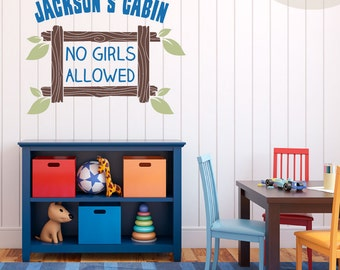 Boys Only - Vinyl Wall Decals