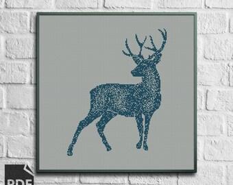 Deer Cross Stitch Pattern [PDF FILE]
