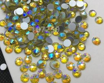 Citrine AB Swarovski Crystal Flat Back SS20 Non hotfix