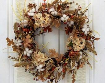 Cotton Fields Fall Wreath