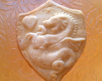 Stoneware Dragon Shield Cookie Mold