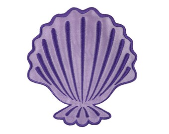 Ariel Seashell Iron On Applique, Genuine Disney Iron On Patch, Ariel Patch, Seashell Patch, Ariel Applique, Disney Applique, Kids Patch