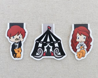 Magnetic Bookmarks - Circus Twins