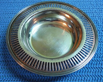 Vintage Pairpoint Silver Plate Bowl, Small Vintage Silver Plate Serving Bowl, Vintage Silver Bowl, Vintage Bowl, Vintage Silver