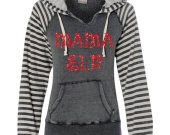 Mama Elf Sweater. Mama Bear Shirt. Christmas Sweater