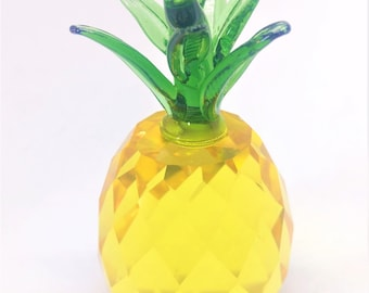 "Pineapple Chandelier Crystal 3.25"" Crystal Prism Lamp Part"