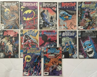 Batman Detective Comics #s 607 608 610 611 613 614 616 618 619 620 621 623 Lot of 12 DC Comic Books 1989-1990