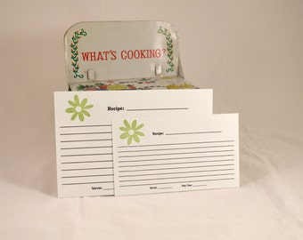 Recipe Cards set of 20 - Spring Flowers