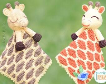 CROCHET PATTERN - Rusty the Giraffe Security Blanket Lovey Crochet PDF Pattern with Instant Download