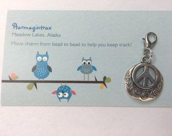 Peace charm...free shipping!  This charm is ready to add to your bracelet!