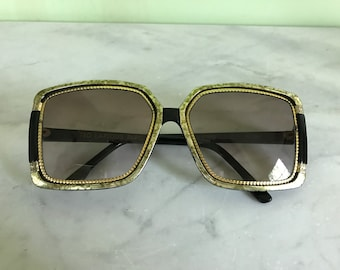 Vintage Ted Lapidus 1970's Oversized Sunglasses TL 1503 Made in France Designer Sunglasses Collectible Sunglasses