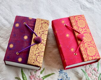 Silk journal. Red.