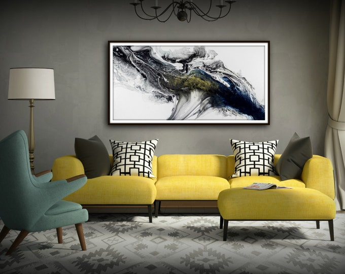Black and White Wall Art Gift Abstract Painting Print Canvas Large Art Abstract Art Modern Gift for Women and Men Contemporary home decor