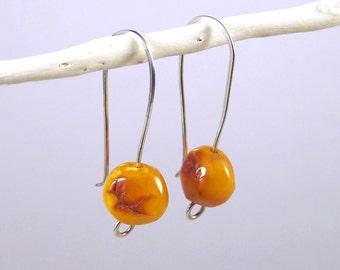 Baltic Amber and Silver Earrings | Handmade Earrings