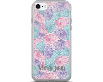 Personalized Hydreangea iPhone 7/7 Plus Case