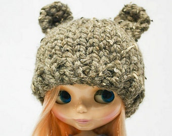 Blythe super bulky yarn doll bear hat knitting PATTERN - instant download - permission to sell finished objects