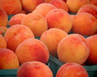 New York Peach - Farmer's market Art - Kitchen Wall Art - Peach Photograph - Nature - Fruit Wall Art - food photograph