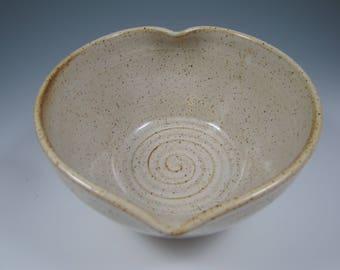 Ceramic Heart Bowl ~ Pottery Heart Bowl ~ Hear Bowl ~ Serving Bowl ~  Heart Shaped Bowl