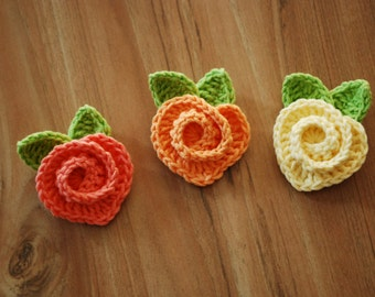 Crochet rose, crochet rainbow, rose pattern, handmade rose, heart rose, rose tutorial, love rose, PDF Instant Download