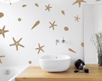 Seashells by the Seashore - Set of 27 - Vinyl Wall Decal