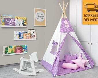 Tipi Set - Kids Play Tent Teepee - Juicy Berry