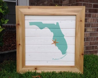 Florida Wood Sign / rustic wood sign / wood sign / wood signs / rustic home decor / rustic pallet sign / distressed wood sign / reclaimed