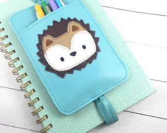 Hedgehog Pen Holder planner band -planner accessories-pen pocket holder -best gifts for her-fits happy, erin condren, mambi, bullet journals