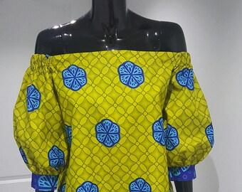 African off shoulder dress